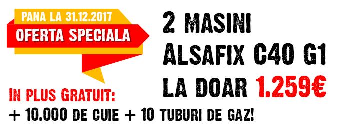 Promotie masina autonoma batut cuie Alsafix