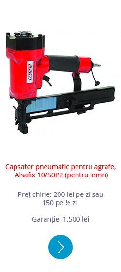 Capsator pneumatic pentru agrafe Alsafix 10 50P2 (pentru lemn)