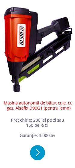 Mașină automată de bătut cuie, cu gaz, Alsafix D90G1 (pentru lemn)
