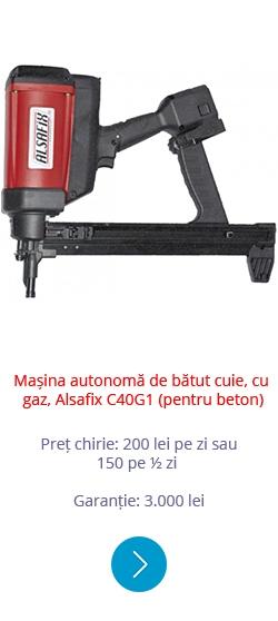Mașină autonomă de bătut cuie, cu gaz Alsafix C40G1 (pentru beton)