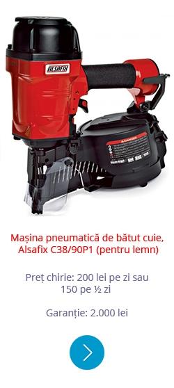 Mașina pneumatică de bătut cuie ALSAFIX C38 90P1 (pentru lemn)