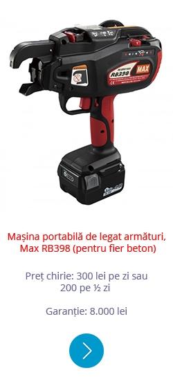 Mașina portabilă de legat armături Max RB398 (pentru fier beton)