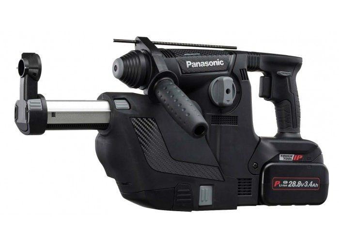 Noul ciocan rotopercutor cu acumulator Panasonic EY7881 – aspiră praful în timp ce găurește