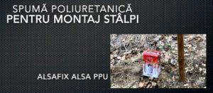 Spuma poliuretanică pentru fixare stâlpi Alsa PPU